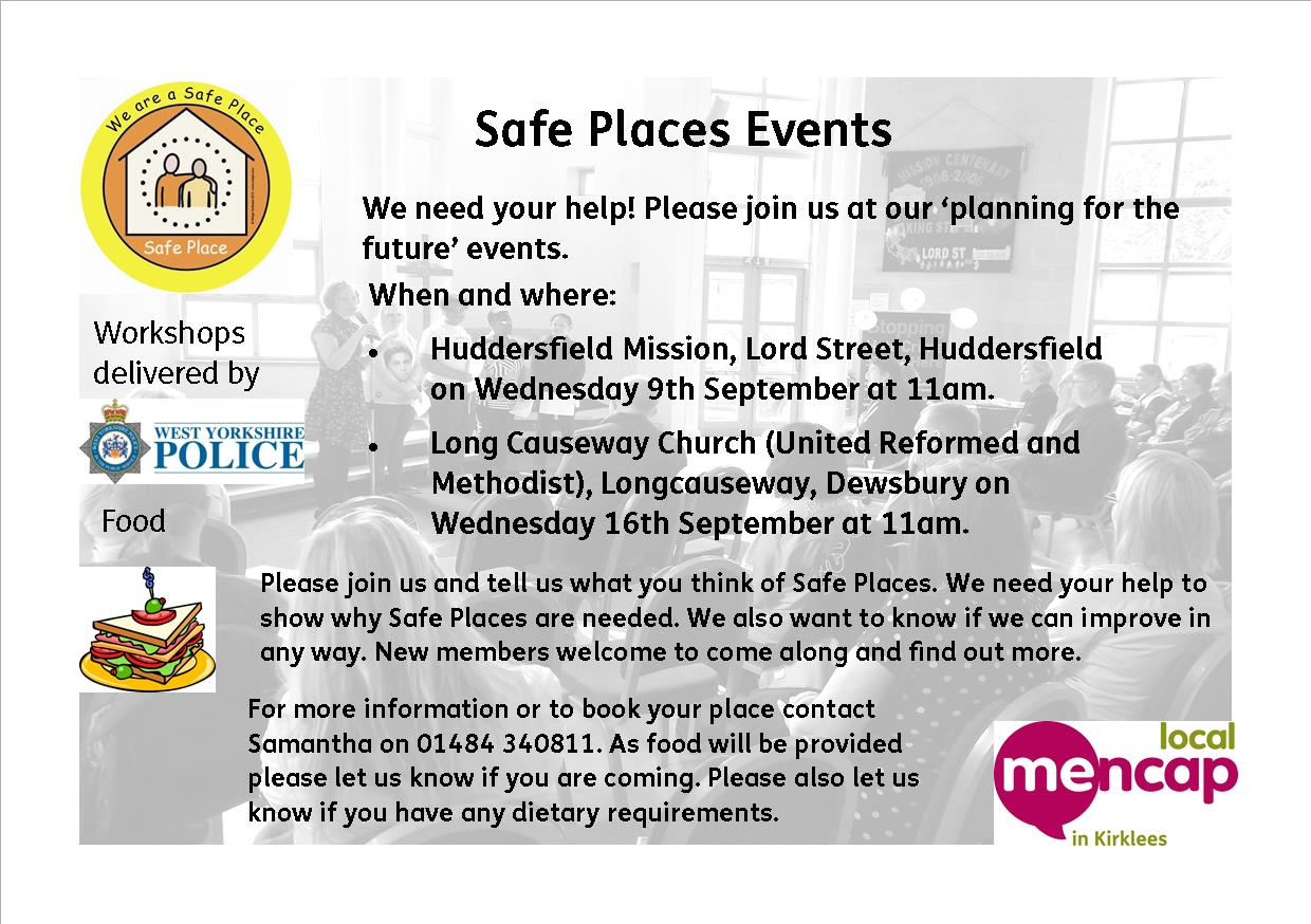 Safe Places events